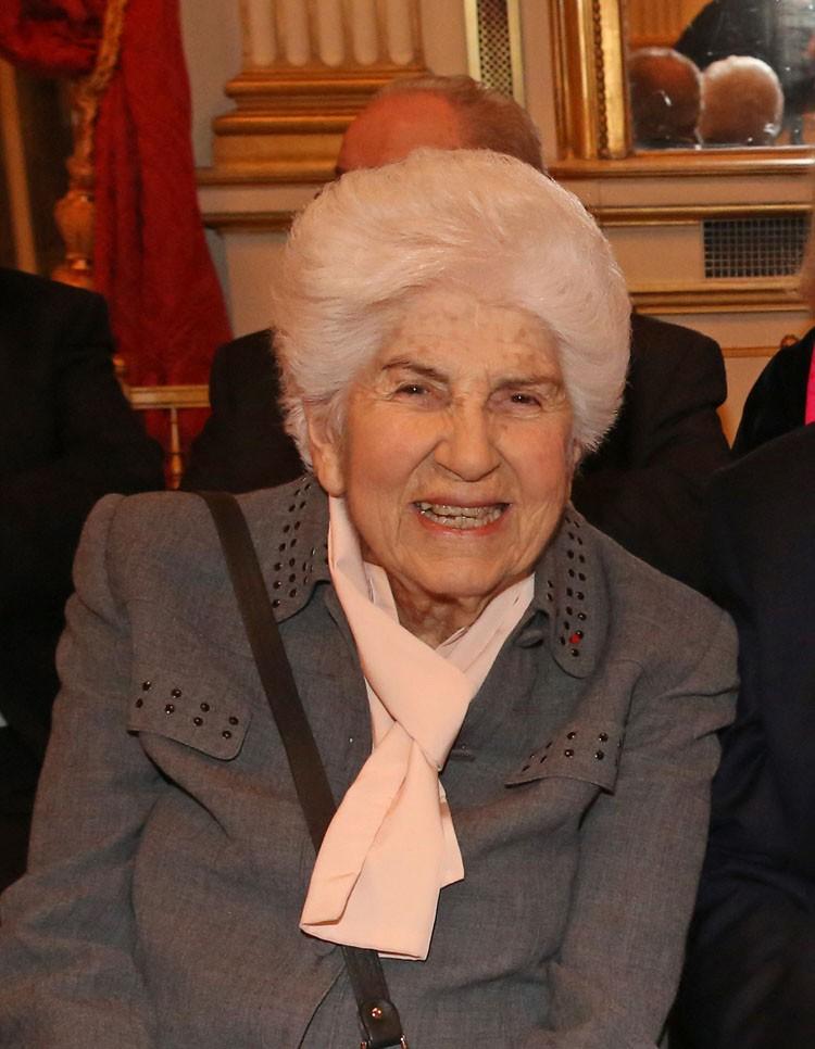 Gisèle Godlewski (1918-2016), lors de la remise des Prix d'histoire de la Fondation Napoléon, décembre 2014 © Fondation Napoléon