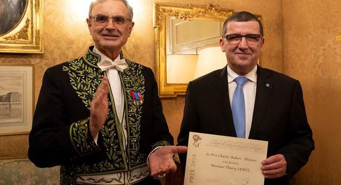 Thierry Lentz, lauréat du prix Charles-Aubert de l'Académie des Sciences morales et politiques 2018