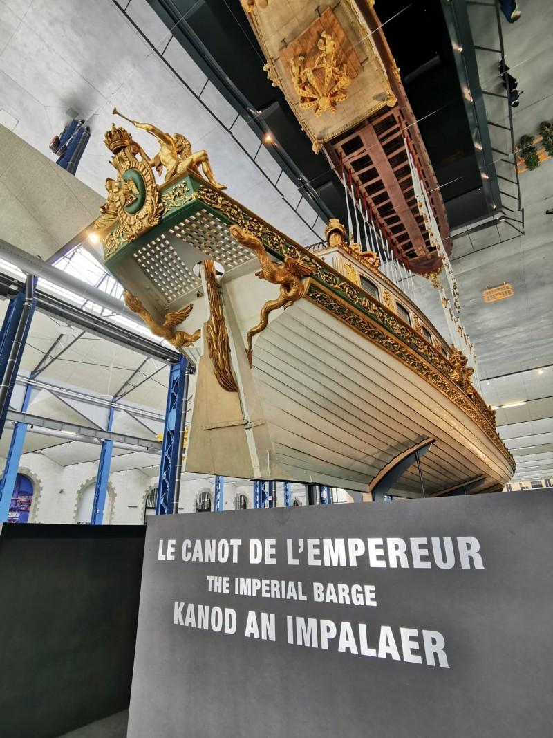 Canot de l'Empereur, Ateliers des Capucins, Brest, 28 mai 2021 © Fondation Napoléon