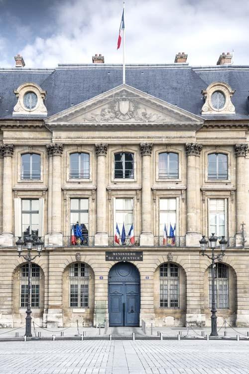 Hôtel de Bourvallais, place Vendôme, abritant la Chancellerie © Ministère de la Justice