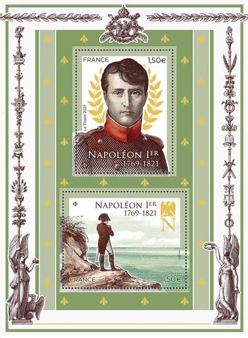 Timbres spécial Bicentenaire de la mort de Napoléon © La Poste 2021